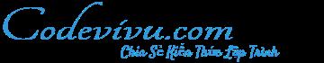 CODEVIVU.COM | Chia Sẻ Kiến Thức Lập Trình - Chia Sẻ Kiến Thức Lập Trình | Tự Học Lập Trình | Chỉa Sẻ Kiến Thức Lập Trình | Học Lập Trình Online
