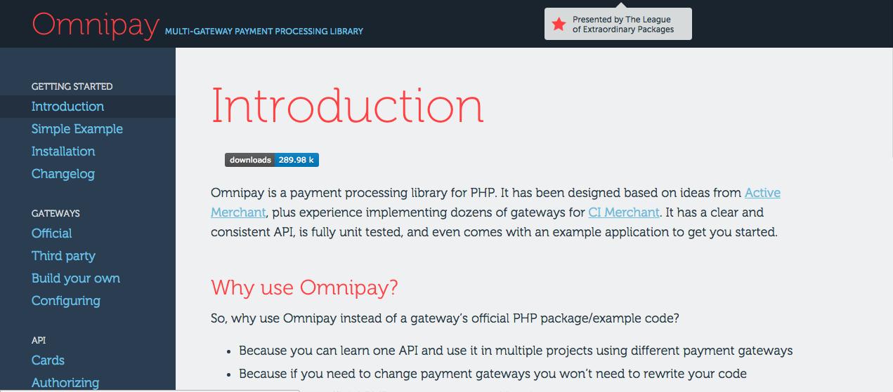 Thư viện Omnipay PHP