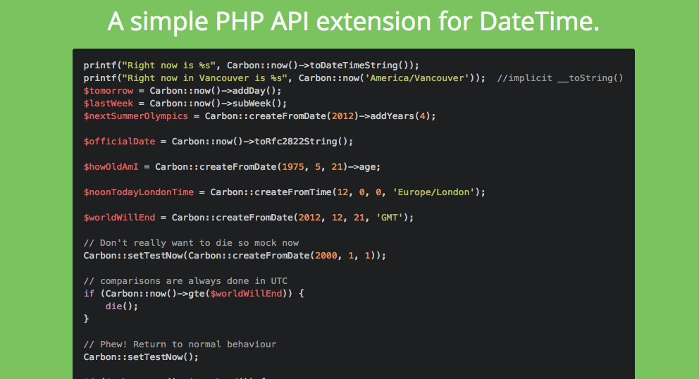 Thư Viện PHP Carbon